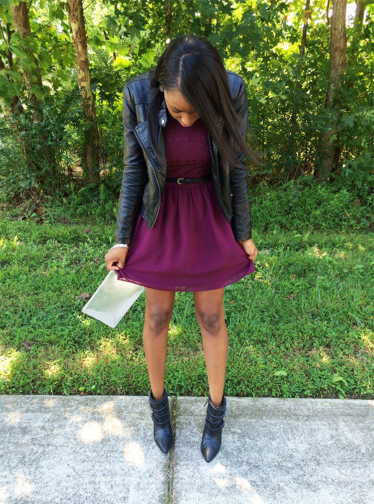 Fall and Purple Patterned Dress