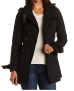 Charlotte Russe PLEATED WOOL TRENCH COAT