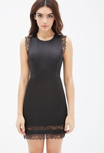 Forever-21-Eyelash-Lace-Trimmed-Sheath-Dress