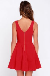 LULUS-Home-Before-Daylight-Red-Dress-Back-View