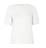 Quiz-White-Fluffy-Short-Jumper