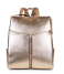 Gold-Metallic-Zip-Front-Backpack