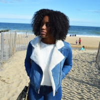 Denim + A Sweater Beach Day