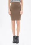 Forever-21-Heathered-Knit-Pencil-Skirt
