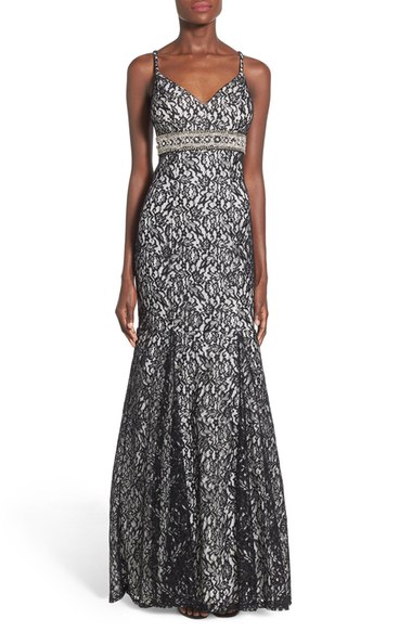 Sequin-Hearts-'Mercedes'-Metallic-Lace-Mermaid-Gown
