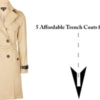 5 Affordable Trench Coats for Spring