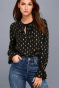 Lulus-GOOD-AS-GILT-GOLD-AND-BLACK-PRINT-LONG-SLEEVE-TOP