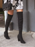 Lulus-So-Much-Yes-Black-Suede-Over-the-Knee-Boots