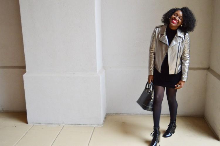 Black-Velvet-Dress-And-Metallic-Moto-Jacket-5