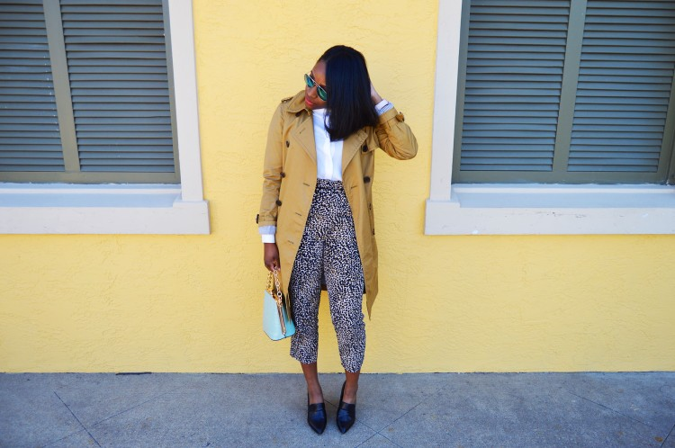 Animal-Print-Pants-and-a-Trench-Look