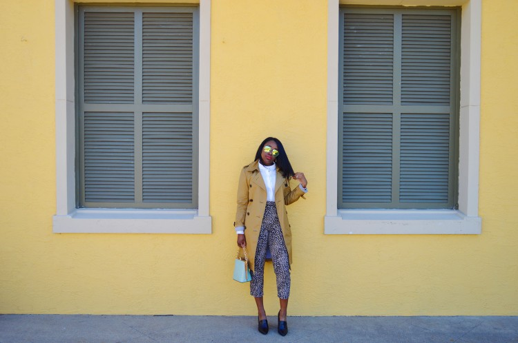 Animal-Print-Pants-and-Trench-Look-1