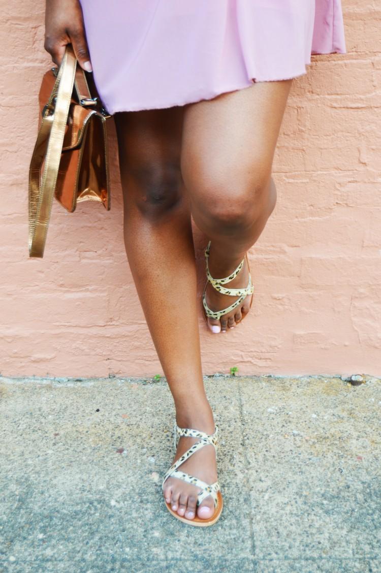 Mesh-T-Shirt-Dress-and-Leopard-Print-Sandals-4