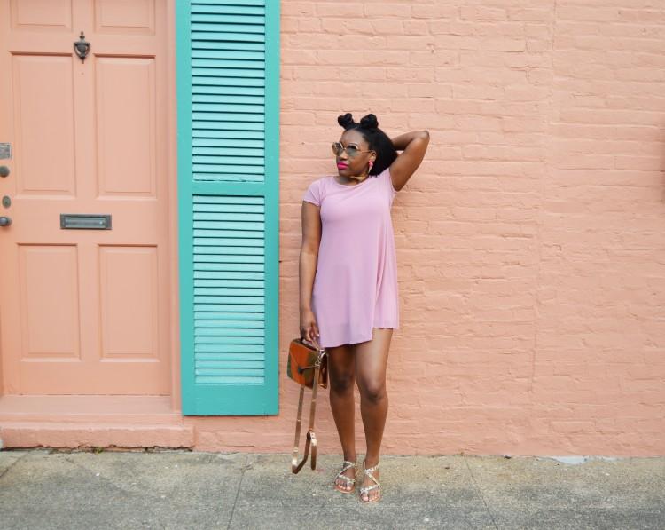 Mesh-T-Shirt-Dress-and-Leopard-Sandals-5