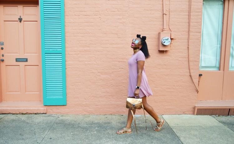 Mesh-T-Shirt-Dress-and-Leopard-Sandals