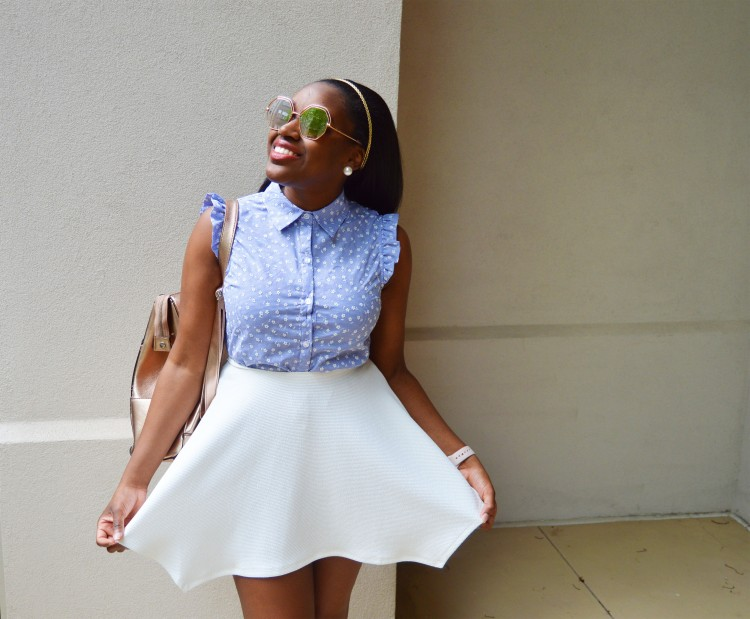 Floral-Top-and-White-Skirt-4