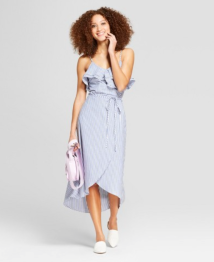 Target-Women's-Striped-Cold-Shoulder-Ruffle-Wrap-Dress-A-New-Day