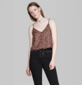 Target-Women's-Animal-Print-Button-Down-Cami-Wild-Fable-Brown