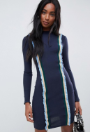 Glamorous-Tall-fitted-sweater-dress-with-constrast-trim