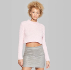 target-women's-fuzzy-crop-mockneck-sweater-wild-fable
