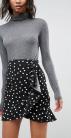 ASOS-DESIGN-mini-wrap-skirt-in-polka-dot-print